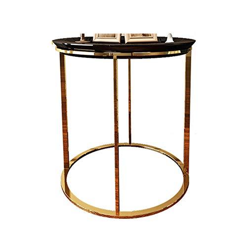 Amazon.com: ZHIRONG Mesa auxiliar redonda de metal, mesa de ...