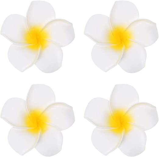 "SMALL 2.5/"" Ivory White Foam Flower Hair Clip Wedding Bridesmaid Prom"