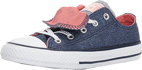 CONVERSE CHUCK TAYLOR ALL STAR DOUBLE TONGUE SHINE AND SHIMMER LOW TOP (13.5 Little Kid (Converse Double Tongue)