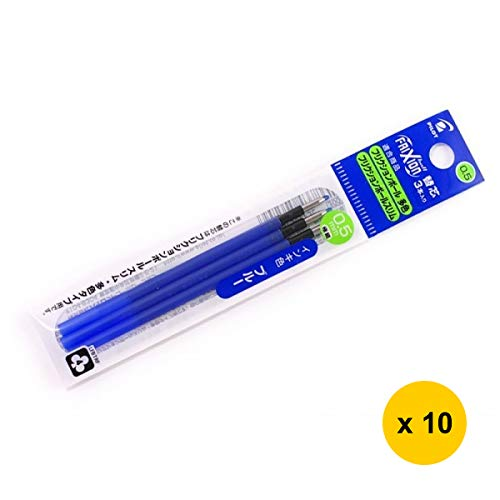 Frixion Ball 3 LFBTRF-30EF 0.5mm Extra Fine Ballpoint Pen Refill (10pcs) - Blue Ink (with Free 5-Color Sticky Notes) [PIL0T]
