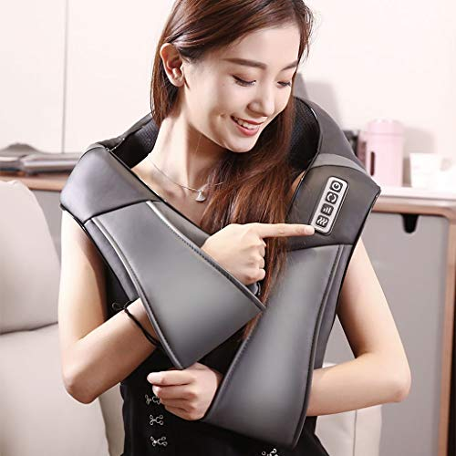 Shi xiang shop Shiatsu Neck Shoulder Massager with Heat, Electric Neck Massage with Deep Kneading Tissue for Muscles Pain Relief Relax in Car Office and Home