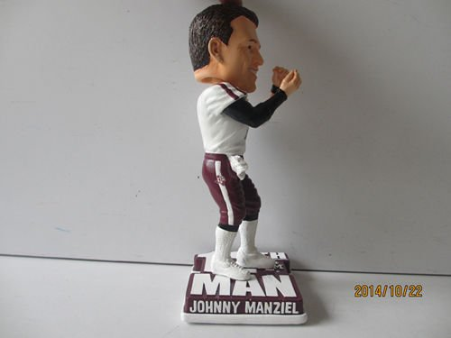 Johnny Manziel Texas A&M Aggies \CASH OUT\ COLLEGE LEGENDS FIGURE #12 Bobble Head Doll #/500 Exclusive to Carroll's Sports Cove