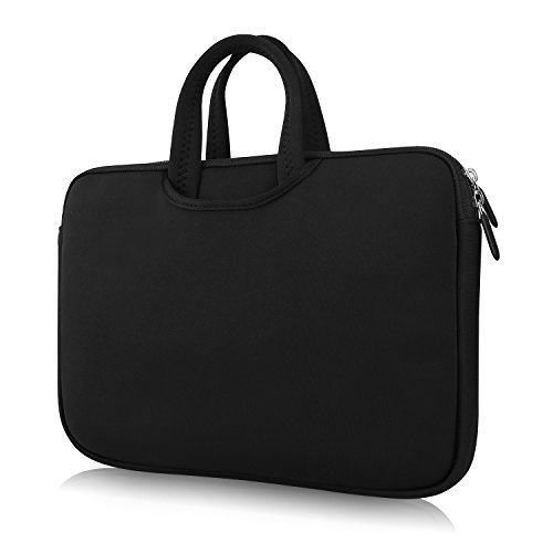 (NAVISKAUTO 15.6 Inch Nylon Handbag for Portable DVD Player, Laptop, Tablet Carry Bag)
