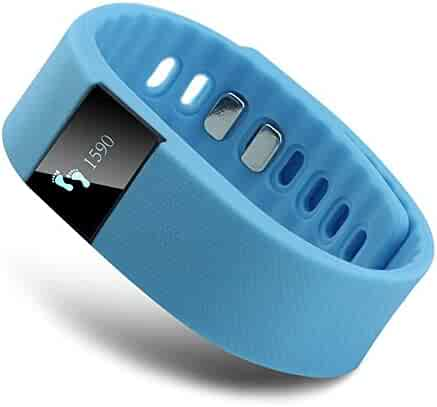 EFO-S BLUE K5 Wireless Activity and Sleep Monitor Pedometer Smart Fitness Tracker Wristband Watch Bracelet for Men Women Boys Girls Ladies Man iPhone Sumsung HTC (Blue)
