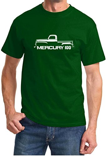 1952-56 Mercury 100 Classic Pickup Truck Outline Design Tshirt 3XL forest