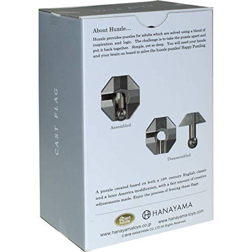 Level 1 Puzzles For Kids /& Adults Ages 12 /& Up BePuzzled Flag Hanayama Cast Metal Brain Teaser Puzzle