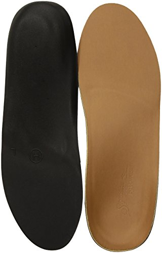 Cushioned Leather Insole - Powerstep Signature Dress Full Insole, Brown, Men's 6-6.5, Women's 8-8.5