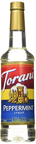 (Torani Peppermint Syrup 750ml PET (Plastic) Bottle)