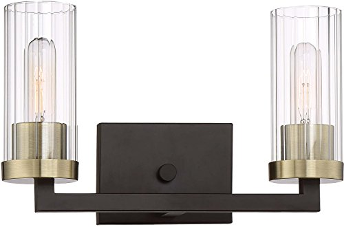 Minka Lavery Wall Light Fixtures 3042-560 Ainsley Court Bath Vanity Lighting, 2-Light 120 Watts, Aged Kinston Bronze