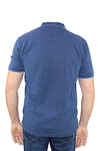 Pioneer Herren Polo Blau Jeansoptik