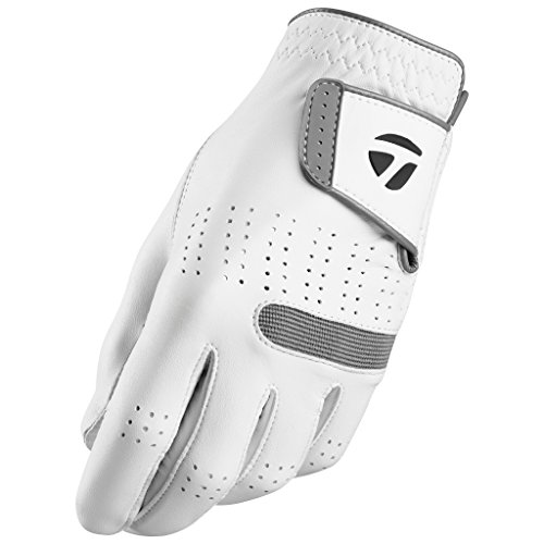 TaylorMade Tour Preferred Flex Glove (White, Left Hand, Medium/Large), White(Medium/Large, Worn on Left Hand)