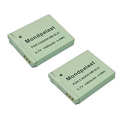2X mondpalast@ Reemplazo 1060mah Batería NB-6LH NB6LH para PowerShot S90 S95 IXUS 105 IS 200 IS