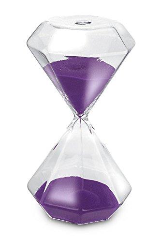 KO 215 Diamond Hourglass Paperweight Purple