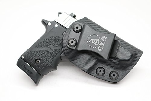CYA Supply Co. IWB Holster Fits: Sig Sauer P238 - Veteran Owned Company - Made in USA - Inside Waistband Concealed Carry Holster (Best Ankle Holster Sig P238)