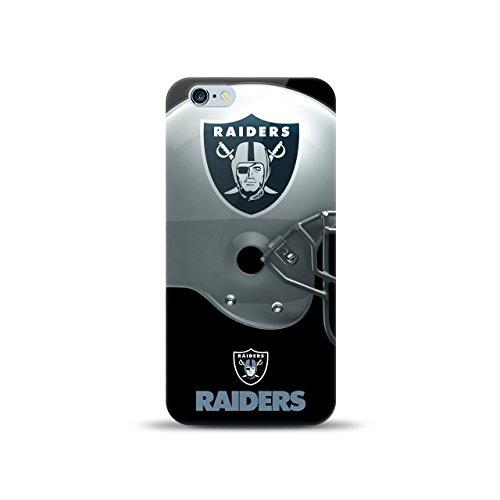 MIZCO SPORTS NFL-HL6-RAID iPhone 6/6S Helmet Case for NFL Oakland Raiders (Helmet Raiders Nfl Oakland)