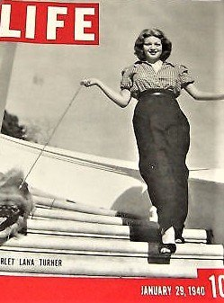 1940 Magazine - LIFE MAGAZINE January 29, 1940 with LANA TURNER on the cover. FIGHTING 69th with James Cagney. Earthquake in Turkey. Art of Hook Rugging.