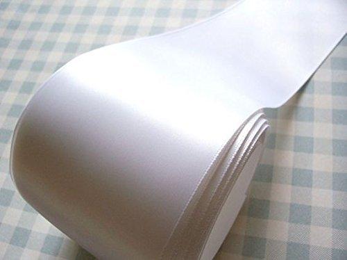 LaRibbons 3 inch Wide Double Face Satin Ribbon - 25 Yard (White) by LaRibbons (Image #4)