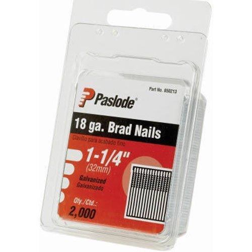 Paslode 650213 18 Gauge 1-1/4-Inch Galvanized Brad Nail (2,000 per (18g Brad Nailer)