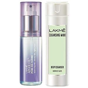 Lakmé Absolute Pore Fix Toner, 60ml And Lakmé Gentle & Soft Deep Pore Cleanser, 60ml