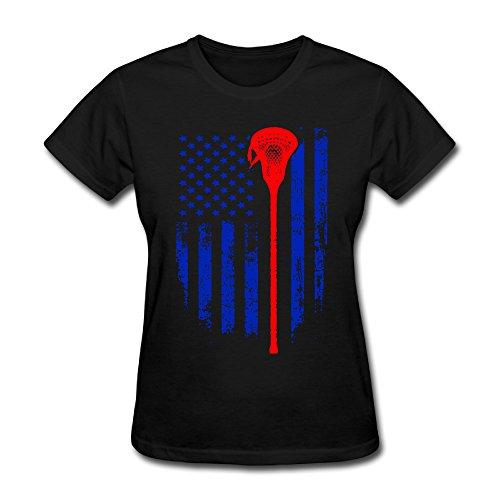 Lacrosse Shop552 Womens Round-Neck Casual Lacrosse Shirts Latest ()