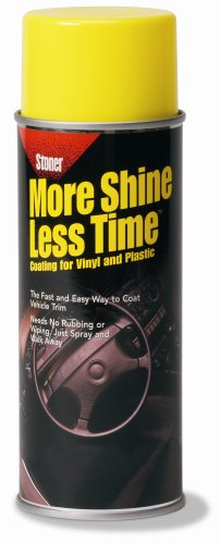 Stoner 91053 More Shine Less Time for Vinyl, Plastic, and Rubber - 9 oz. Aerosol Can, Pack of 12