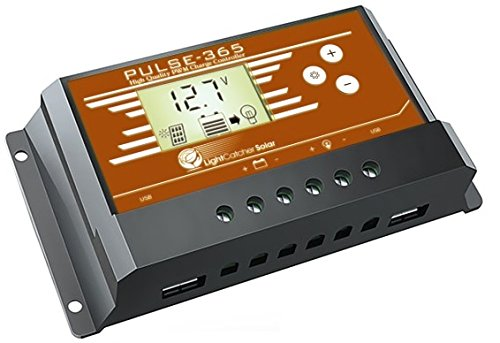 PULSE365 Solar Charge Controller, For 12 Volt or 24 Volt Battery Charger, PWM 30Amps 800Watts Max by Unknown