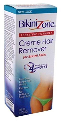 Bikini Zone Creme Hair Reomer Sensitive Bikini Area, 2 Oz (2 Pack) (Best Depilatory Cream For Bikini Area)