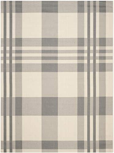 Safavieh Courtyard Collection CY6201-236 Grey and Bone Indoor Outdoor Area Rug 9 x 12