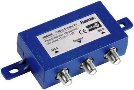 Hama SAT-DiSEqC - Conmutador para antena satélite