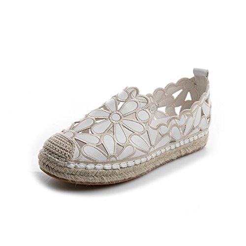 LFEU - Zapatillas de Running de Material Sintético Mujer Blanco