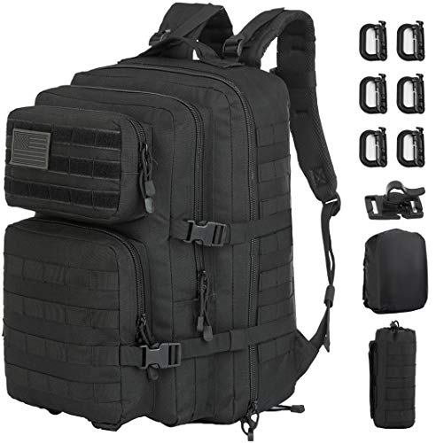 GZ XINXING 43L Large 3 day Molle Assault Pack Military Tactical Army Backpack Bug Out Bag Rucksack Daypack