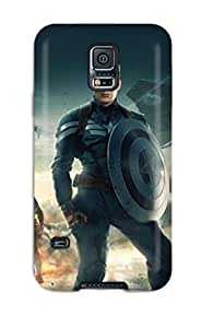 Awesome CwgFZCA2696LokIS Barbara Anthony Defender Tpu Hard Case Cover For Galaxy S5- Captain America The Winter Soldier 2014 by runtopwell