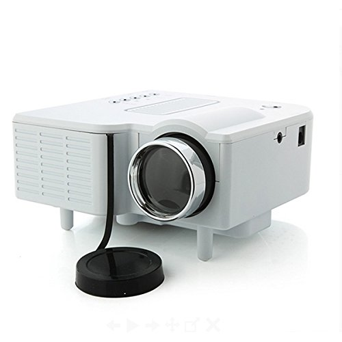 Mini 24w Multimedia LCD Video Game Home Digital Projector w/ Sd / Av / USB / Hdmi Port – White (Cinemas Thea)
