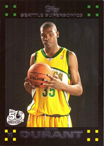 2007-08 Topps Basketball #112 Kevin Durant Rookie - 2008 Basketball Cards Trading 2007