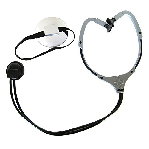Doctor Stethoscope & Mirror Reflector Costume Set ~ Halloween Accessory Kit (Doctor Reflector)