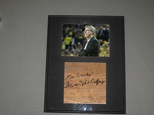 - Fran McCaffery Iowa Hawkeyes Coach Signed Framed Basketball 6X6 Floorboard COA - Autographed College Floorboards