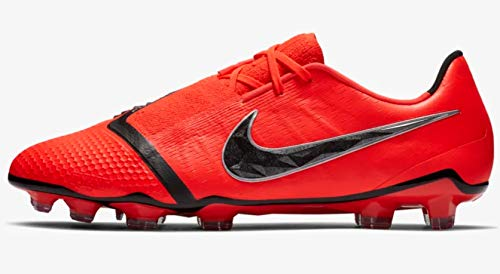 Nike Men's Phantom Venom Elite FG Soccer Cleats (Bright Crimson/Black) (6 M US)