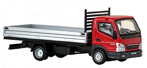 Mitsubishi Fuso Canter F E (Sterling 360) Small Utility Flat Bed (Red Cab) Scale 1:87 (HO Scale) Model (Vehicle Utility Mitsubishi)