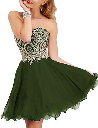 New Womens Moss Green Dress - 6