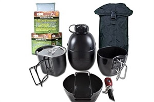 BCB CN004BB Crusader Cooking System Black 8 Piece Black Pouch