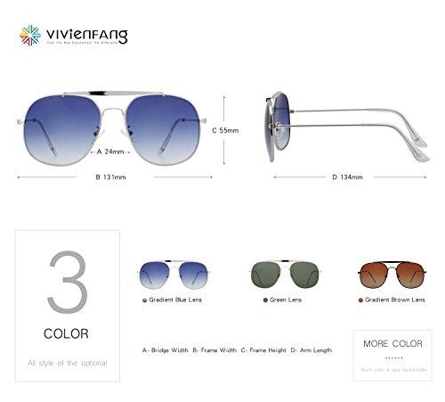 49439b349e Amazon.com  VIVIENFANG Premium Retro Square Aviator Driving Polarized  Sunglasses for Men Metal Frame 87284C Black  Clothing