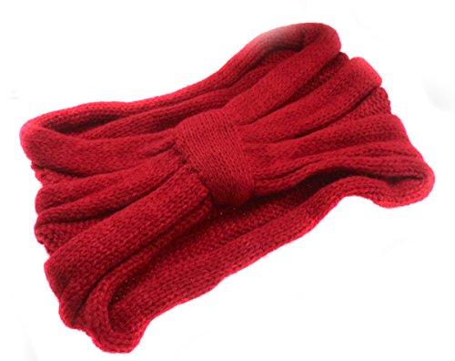 MERSUII™ New Crochet Headband Knit Hairband Twist Wide Ear Warmer Turban Headwrap(Red)