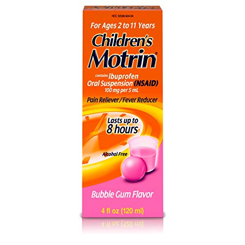 Children's Motrin Oral Suspension, Pain Relief, Ibuprofen, Bubble Gum Flavored, 4 - Bubble Childrens