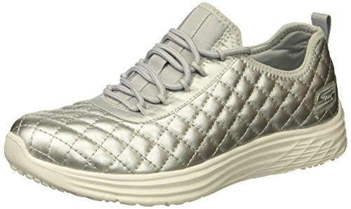 Skechers Bobs Da Donna Bobs Swift-social Hustle Fashion Sneaker Di Moda Argento