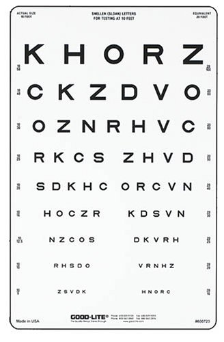 Amazon Sloan Translucent Letter Eye Chart Health Personal Care