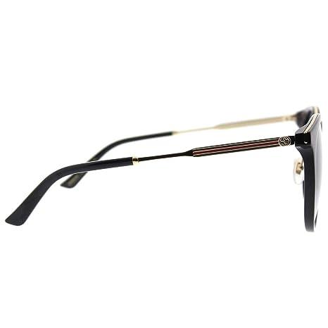 Amazon.com: Gucci GG 0204sk 001 negro plástico anteojos de ...