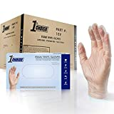 1st Choice Clear Vinyl 3 Mil Thick Disposable Gloves, Medium, Case of 1000 - Medical/Exam Grade, Powder-Free