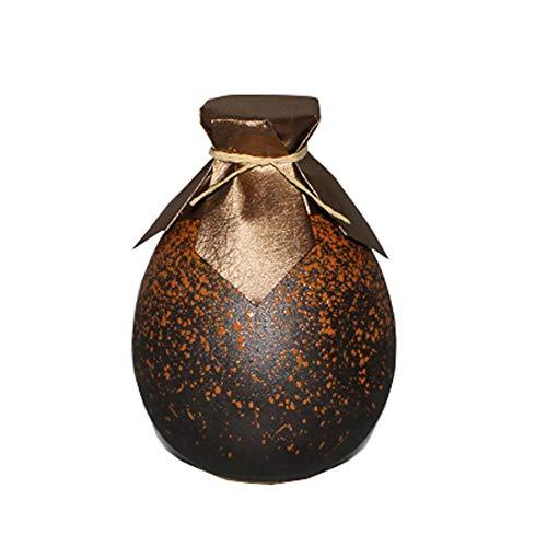 (FANCY PUMPKIN Japanese Ceramic Sake Bottle Sake Pitcher Creative Decoration 500 ML, B)
