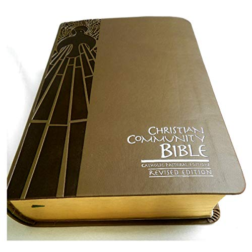Christian Community Bible - Catholic Pastoral Edition with Study Notes / Beautiful Deluxe Leather Bound Bible, Golden Edges with Thumb Index 53rd Edition