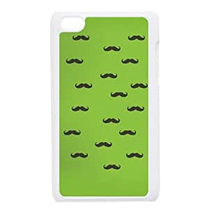 iPod Touch 4 Phone Cases White Vintage Mustache FSG529471